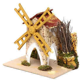 Fake wind mill for nativities 15x10cm s4