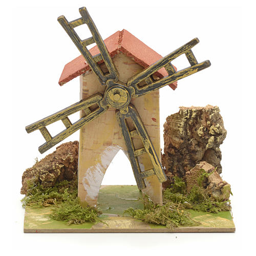 Fake wind mill for nativities 15x10cm 1