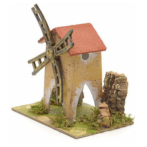 Fake wind mill for nativities 15x10cm 2