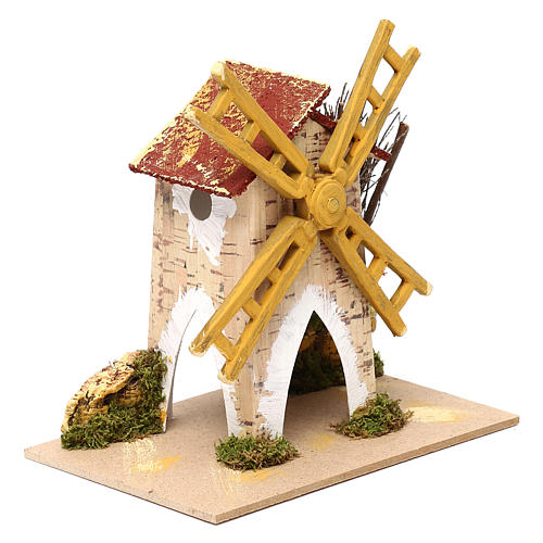Fake wind mill for nativities 15x10cm 5