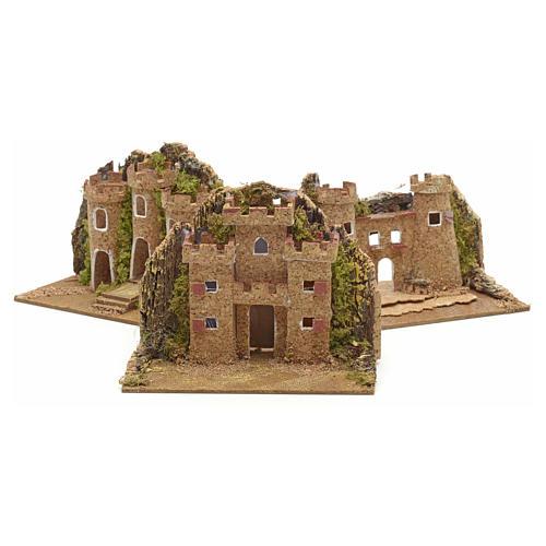 Mini château pour crèche 15x10 cm 2