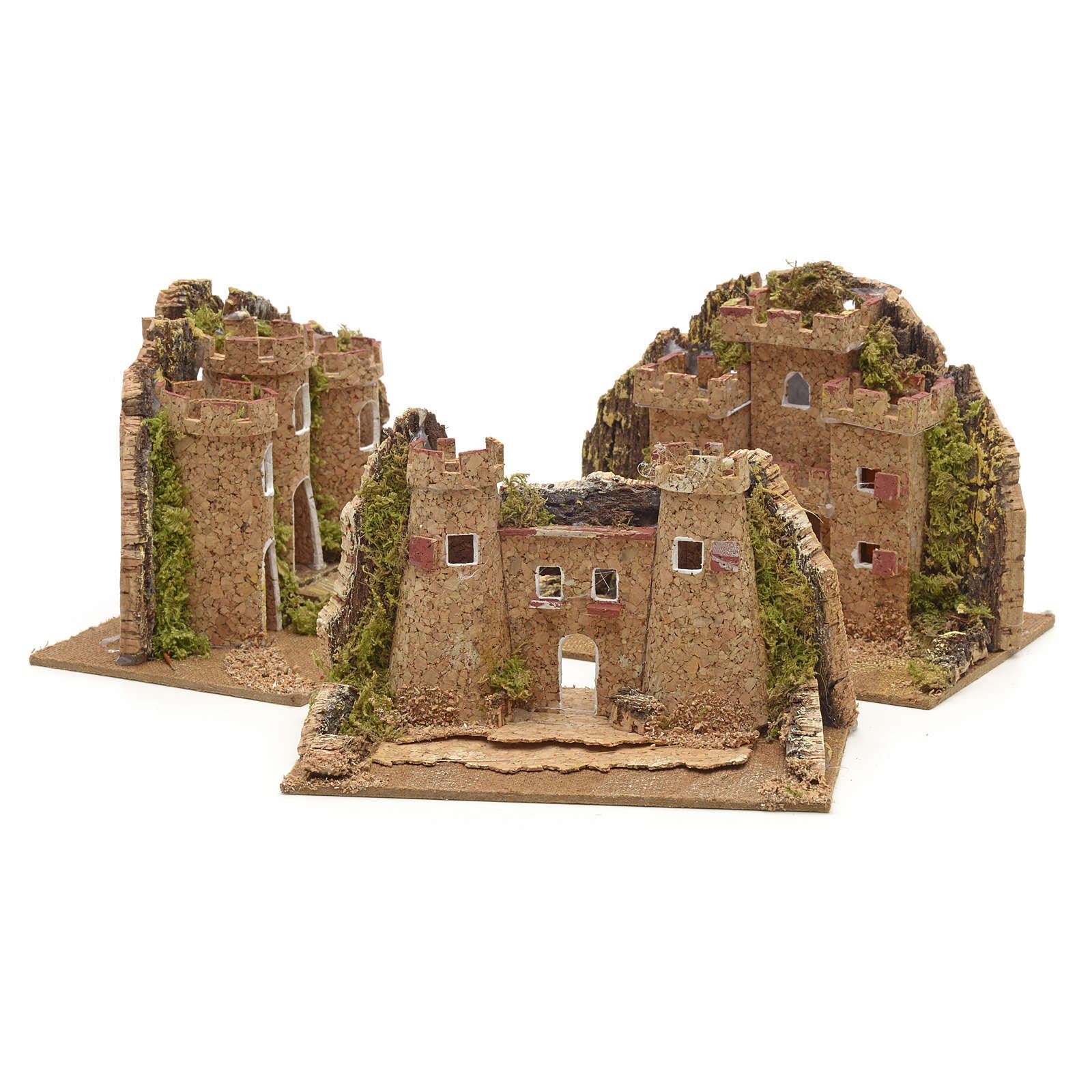 Nativity setting, castle measuring 15x10cm 4
