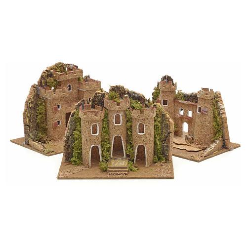 Nativity setting, castle measuring 15x10cm 1