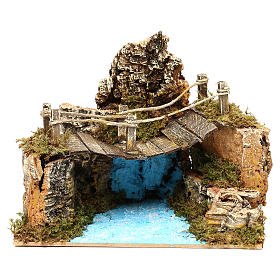 Ponte su fiume dimensioni cm 20x12 s1