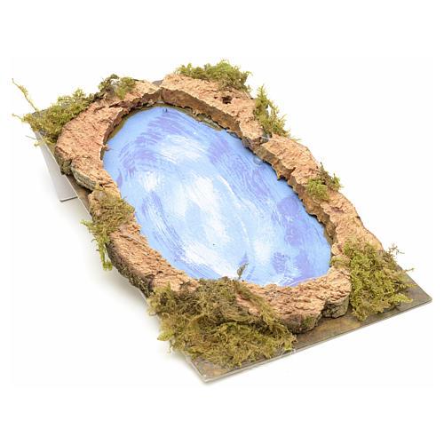 Nativity setting, lake 20x12cm 1