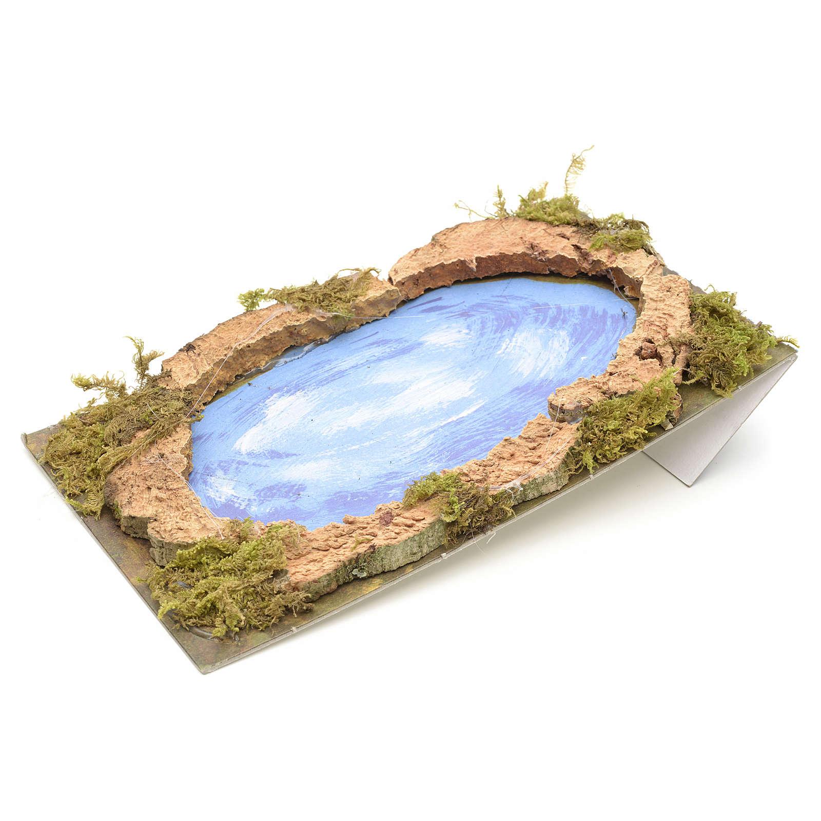 Nativity setting, lake 20x12cm 4