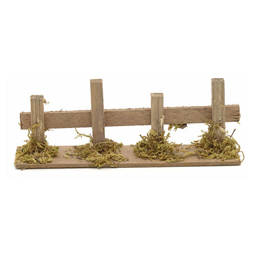 Nativity setting, wooden fence 15x3cm 1