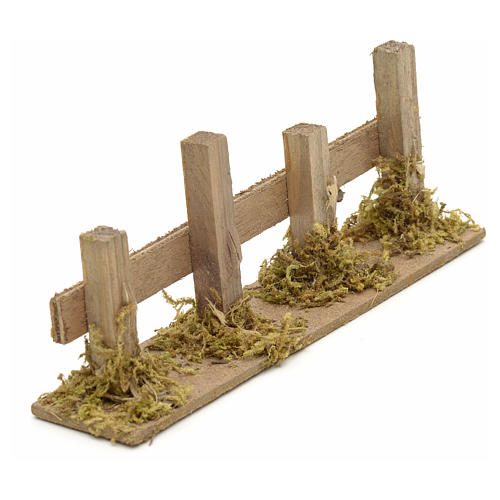 Nativity setting, wooden fence 15x3cm 2