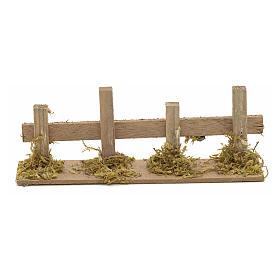 Cerca de madera pesebre 15x3 cm s1