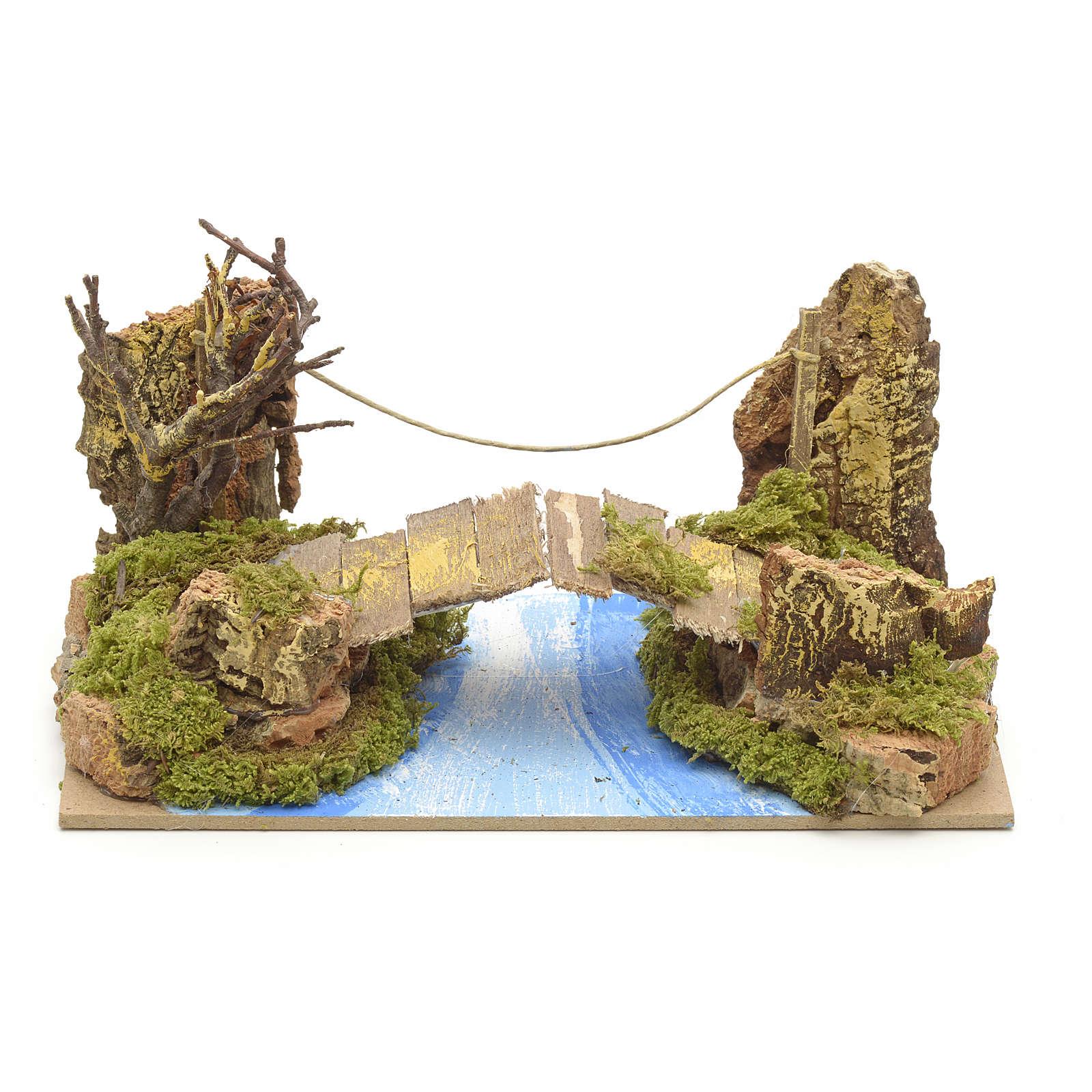 Ponte su fiume 20x12 cm 4