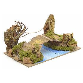 Ponte su fiume 20x12 cm s2