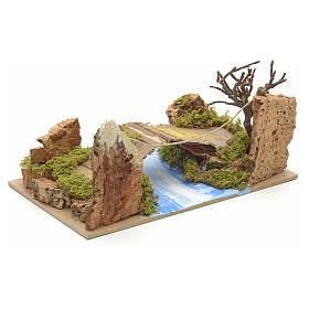 Ponte su fiume 20x12 cm s3