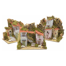 Assorted farmhouses for nativities 20x12cm s1