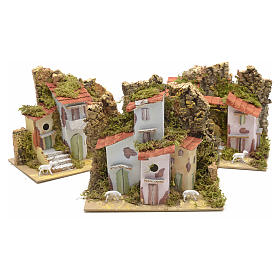 Assorted farmhouses for nativities 20x12cm s2