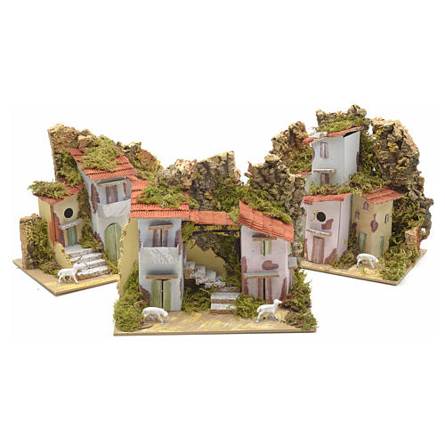 Assorted farmhouses for nativities 20x12cm 1
