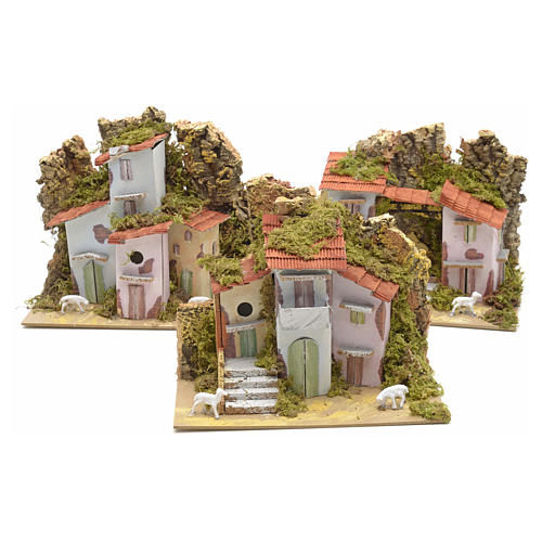 Assorted farmhouses for nativities 20x12cm 3