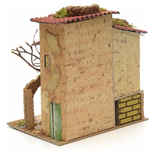 Abgelegenes Landhaus für Krippe 21x16 cm 4