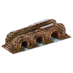 Ponte su fiume 3 arcate cm 35x10x8,5 s3