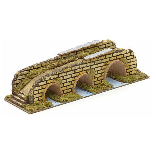 Ponte su fiume 3 arcate cm 35x10x8,5 1