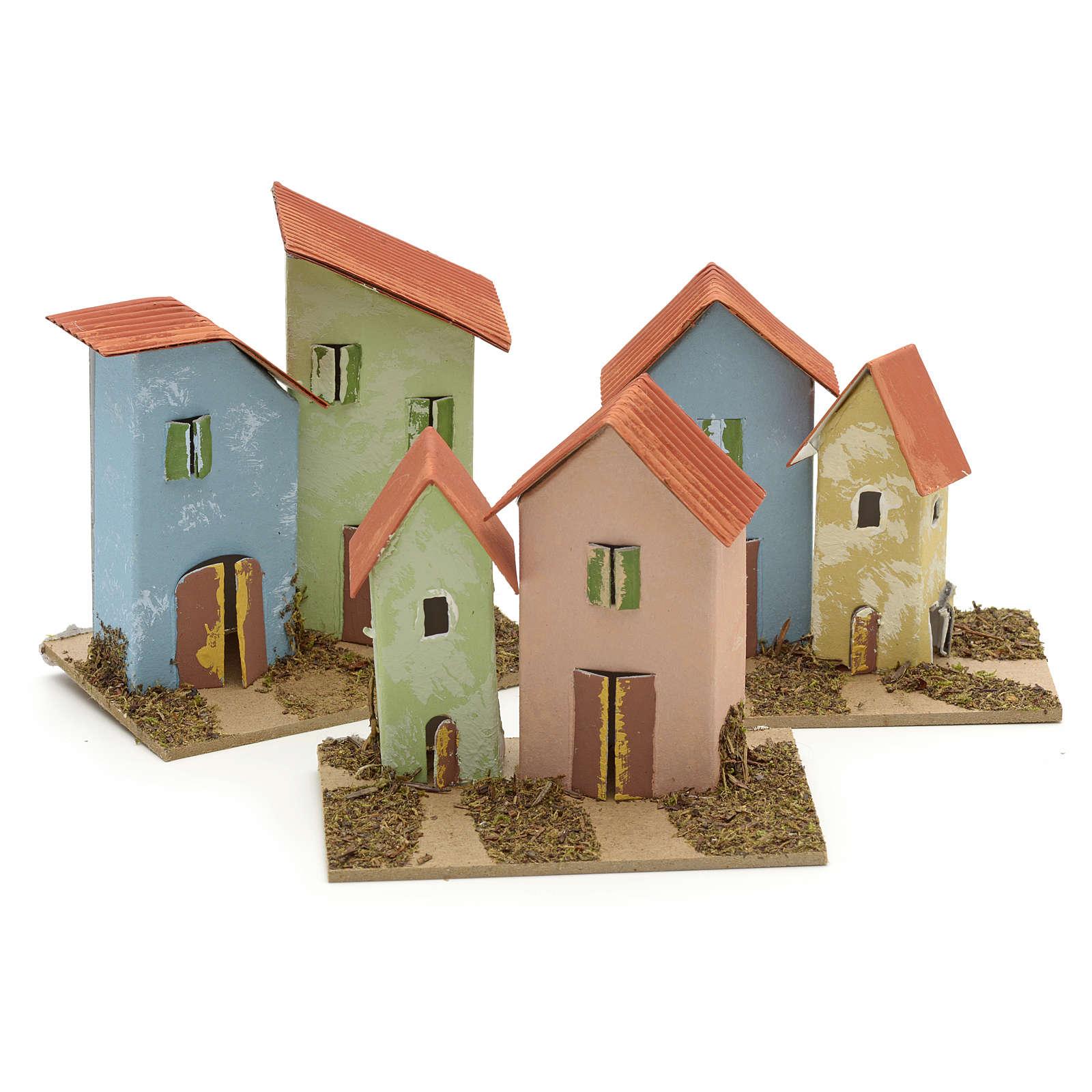 Maison en miniature pour crèche 10x6 cm 4