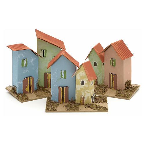 Maison en miniature pour crèche 10x6 cm 1