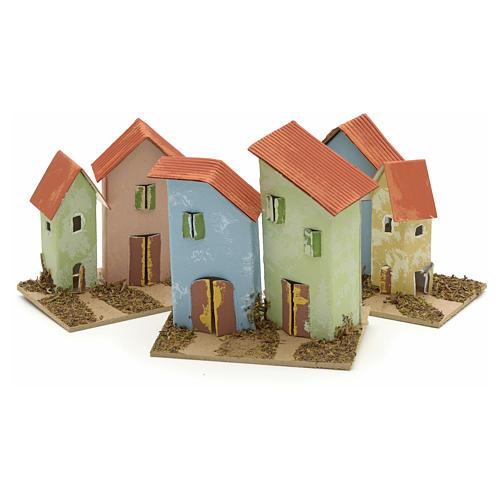 Maison en miniature pour crèche 10x6 cm 3