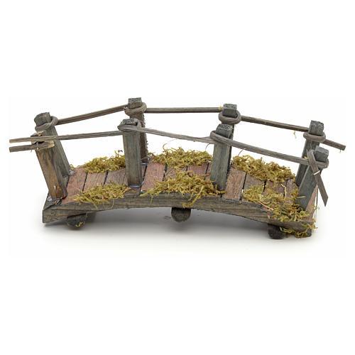 Pont en bois en miniature pour crèche 17,5x6x7 cm 1