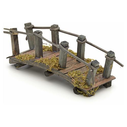 Pont en bois en miniature pour crèche 17,5x6x7 cm 3