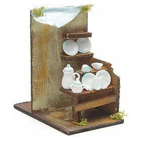 Boutique de vaisselle en miniature pour crèche 20x33x18 s2