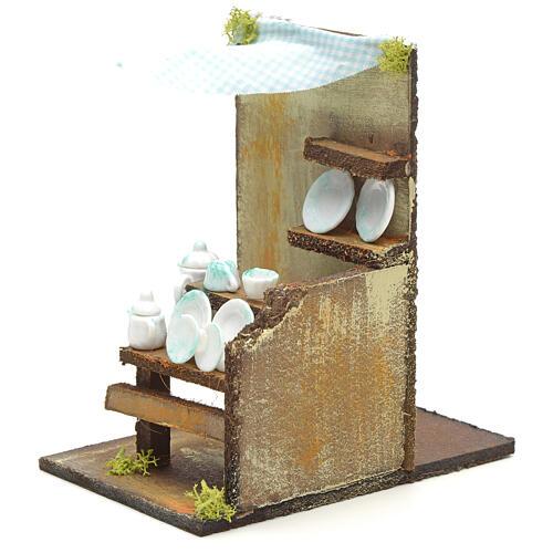 Bottega del piattaio presepe cm 15x10 3