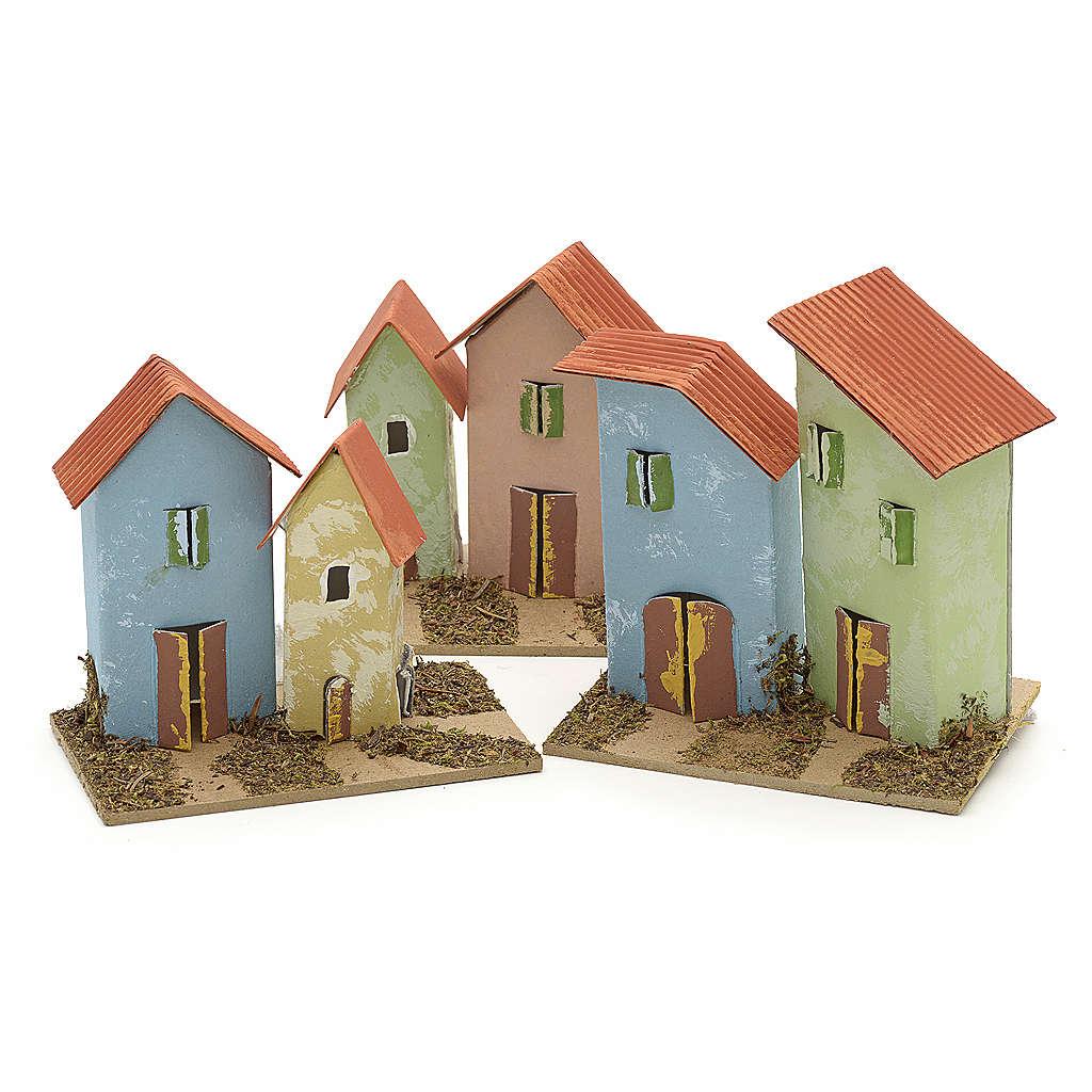 Maison en miniature pour crèche de Noel cm 10x4,5 4