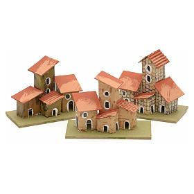 Maison en miniature pour crèche de Noel cm 10x4,5 s1