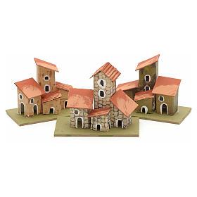 Maison en miniature pour crèche de Noel cm 10x4,5 s2