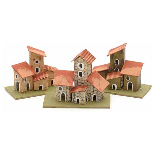 Maison en miniature pour crèche de Noel cm 10x4,5 2
