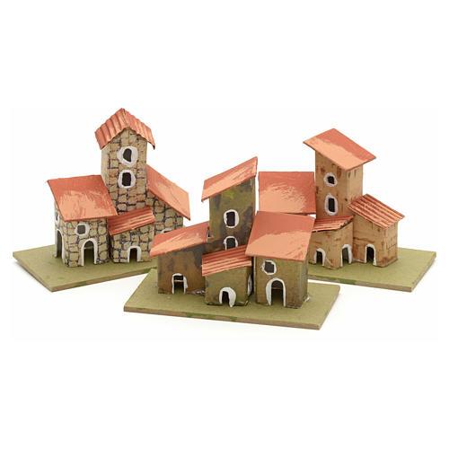 Maison en miniature pour crèche de Noel cm 10x4,5 3