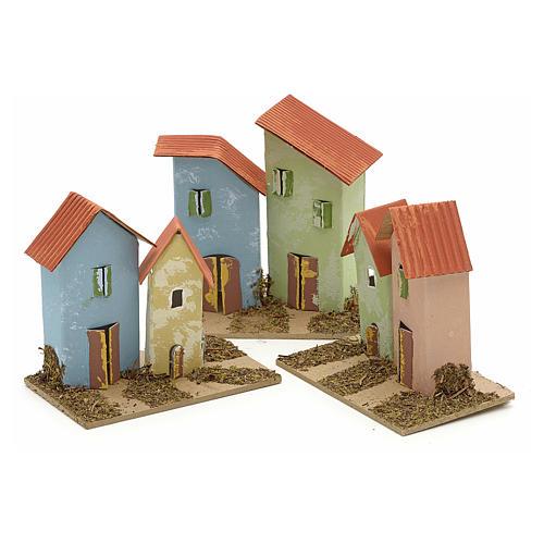 Maison en miniature pour crèche de Noel cm 10x4,5 5