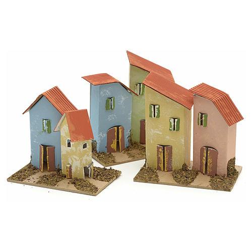 Maison en miniature pour crèche de Noel cm 10x4,5 6