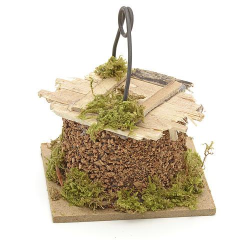 Puits en miniature pour crèche cm 7x7 2