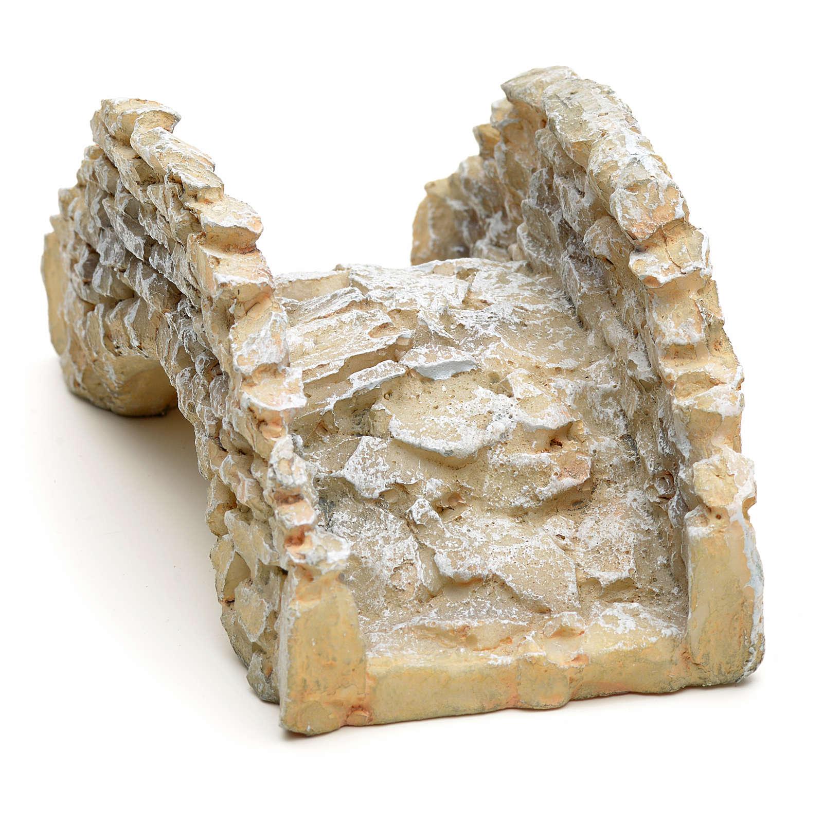 Pont type pierre en miniature, résine 4