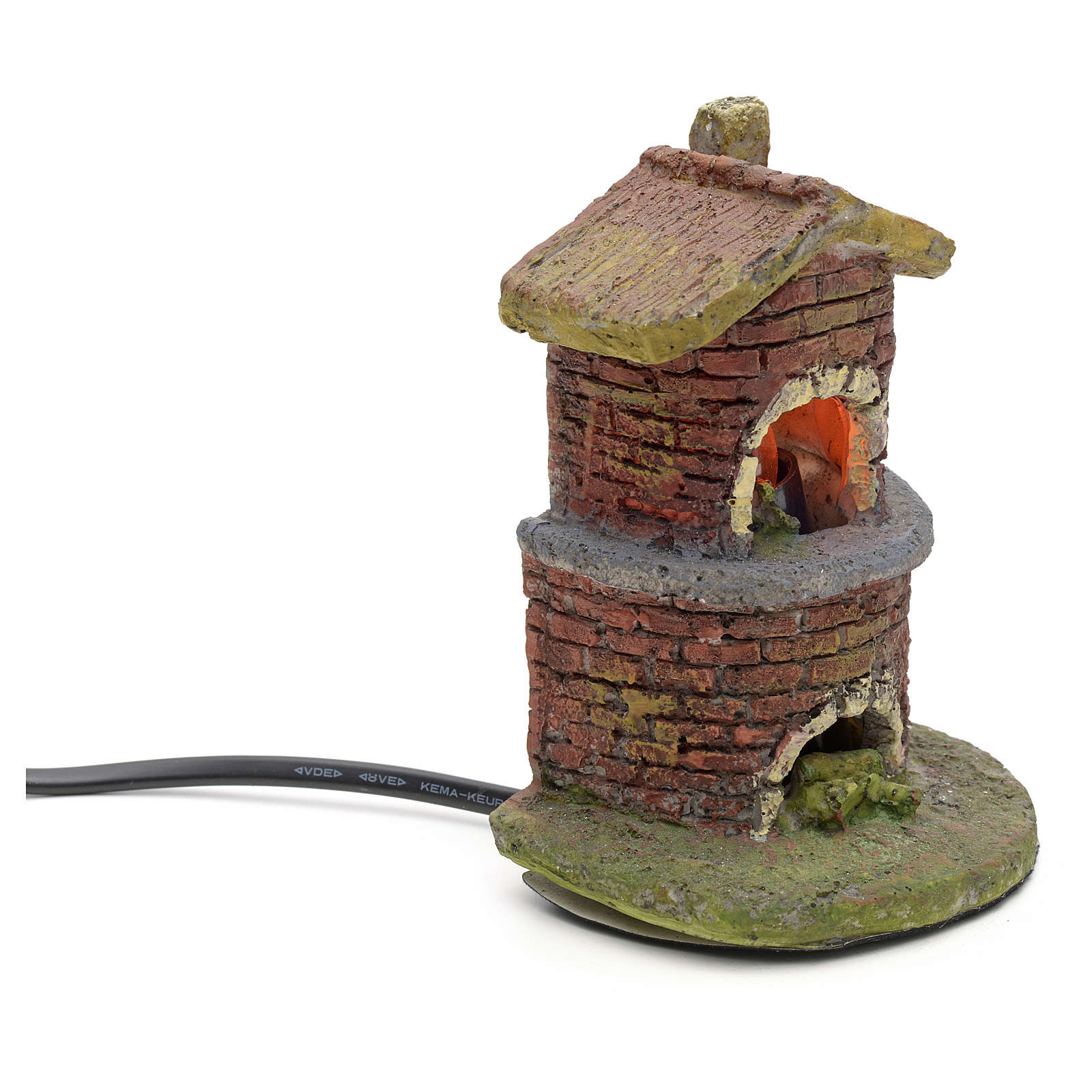 Nativity accessory, oven with flame effect light 4
