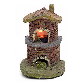 Nativity accessory, oven with flame effect light s1