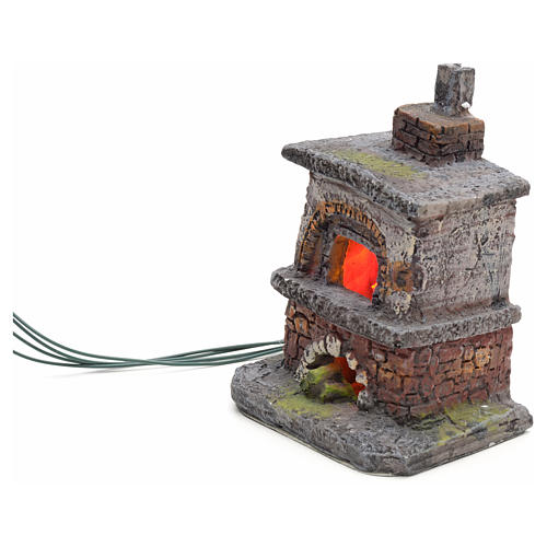Nativity accessory, oven with red/yellow LED lights 5