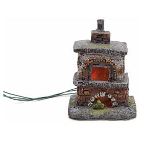 Nativity accessory, oven with red/yellow LED lights s4