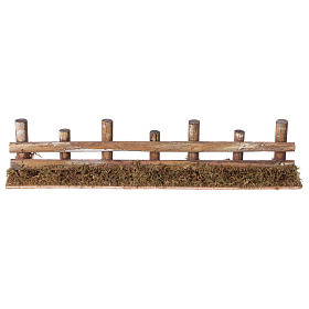 Bridges, streams and fences for Nativity scene: Nativity setting, fence with logs 33x4,5cm