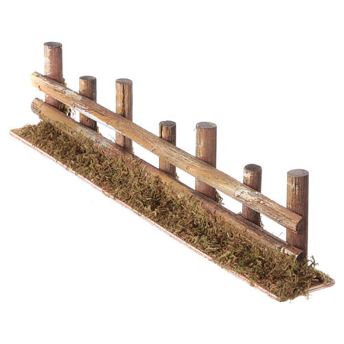 Nativity setting, fence with logs 33x4,5cm 2