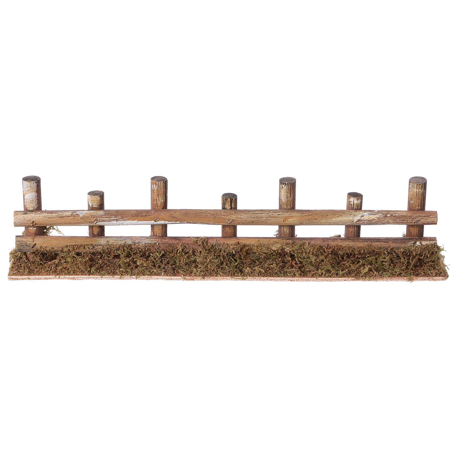 Palissade de troncs en miniature 33x4,5cm 4