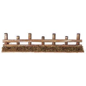 Palissade de troncs en miniature 33x4,5cm s1