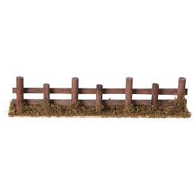 Palissade de troncs en miniature 33x4,5cm s4