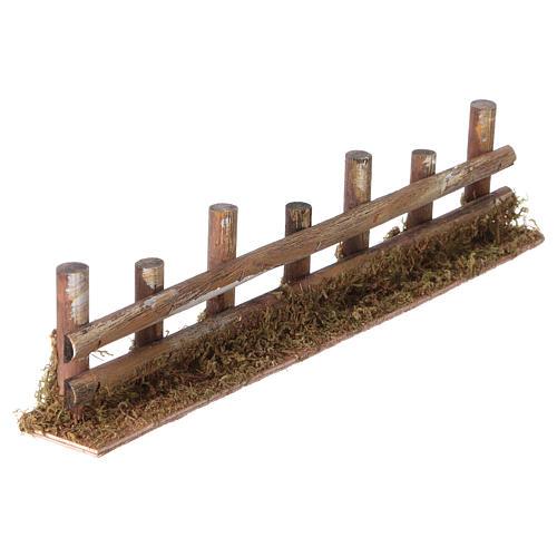 Palissade de troncs en miniature 33x4,5cm 3
