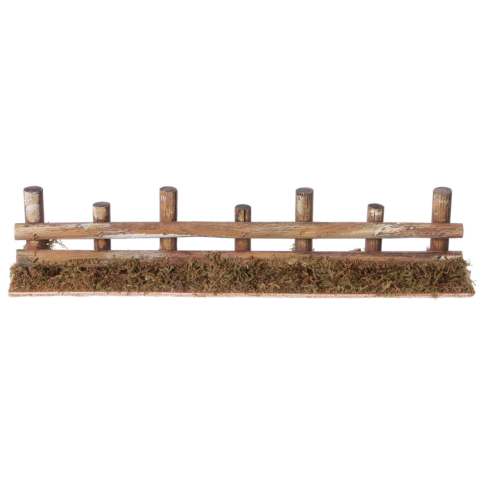 Nativity setting, fence with logs 33x4,5cm 4